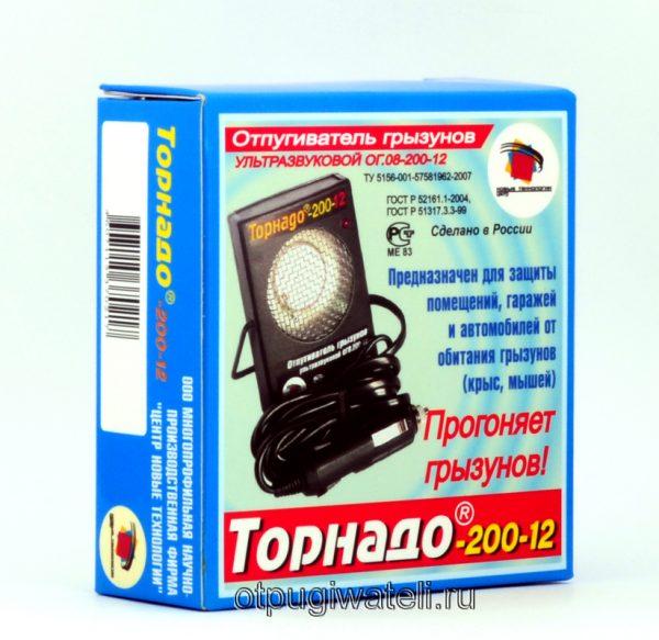 Ультразвуковой отпугиватель грызунов Торнадо ОГ.08-200-12