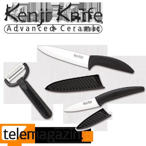 Ножи Кенджи (Kenji Knife) - набор керамических ножей