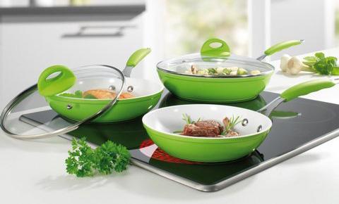 Биолюкс Керама набор керамических сковородок