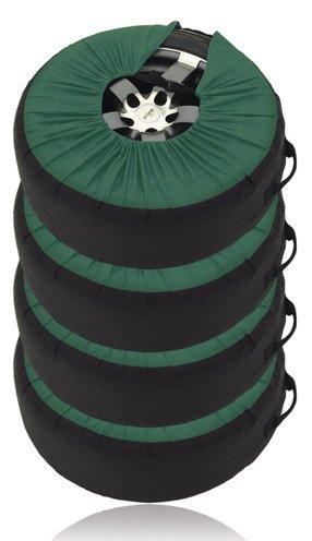 Набор чехлов для автомобильных шин - 4 шт (зеленый)