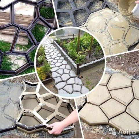 Форма для садовых дорожен