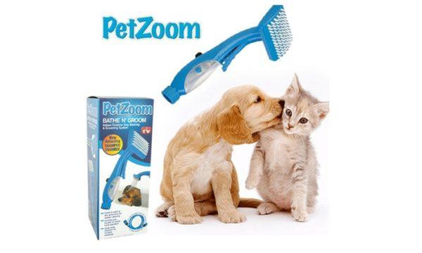 Массажная щетка-душ для собак и кошек Petzoom Bath n Groom