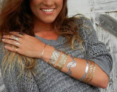 Shimmer (Metallic Jewelry Tattoos)