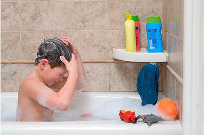 угловая полка на вакуумных присосках для ванной snap up shelf
