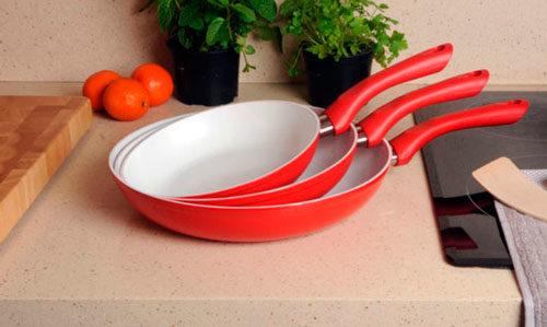 Набор алюминиевых сковород с керамическим покрытием