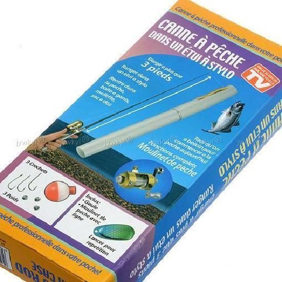 Телескопическая мини ручка для рыбалки