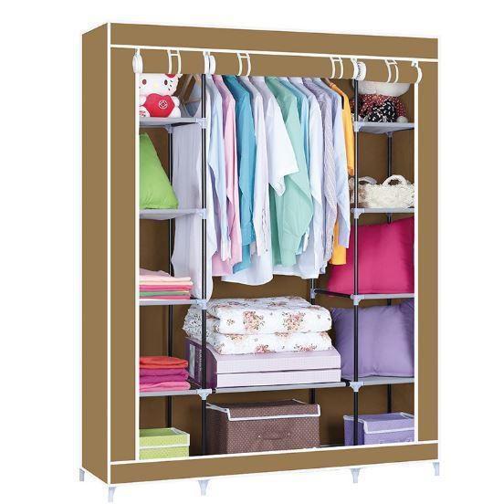 Портативный тканевый-шкаф органайзер для одежды