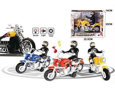 Инерционная игрушка мотоциклист