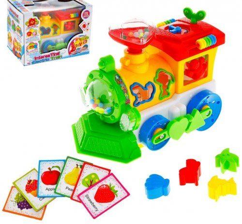 Развивающая игрушка паровозик сортер